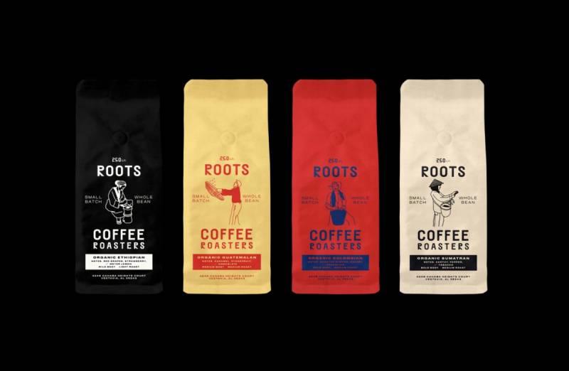 向農民致敬!Roots咖啡品牌形象設計-捷可印