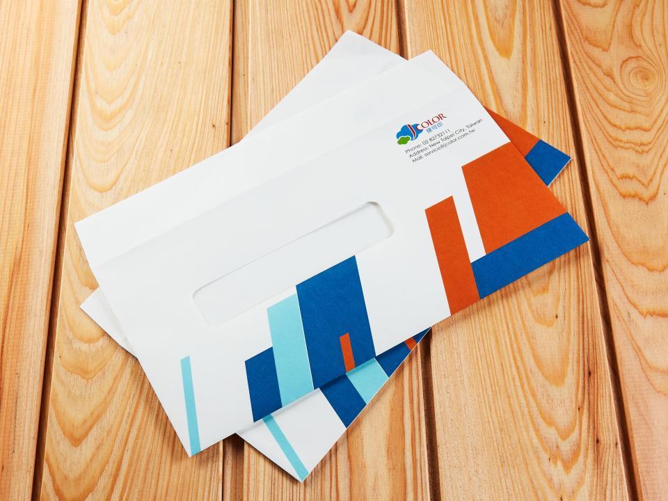 歐式12K開窗信封製作,便宜優質的信封印刷服務 | 捷可印