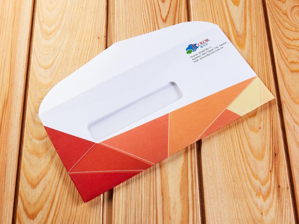 西式12K開窗信封製作,便宜優質的信封印刷服務 | 捷可印