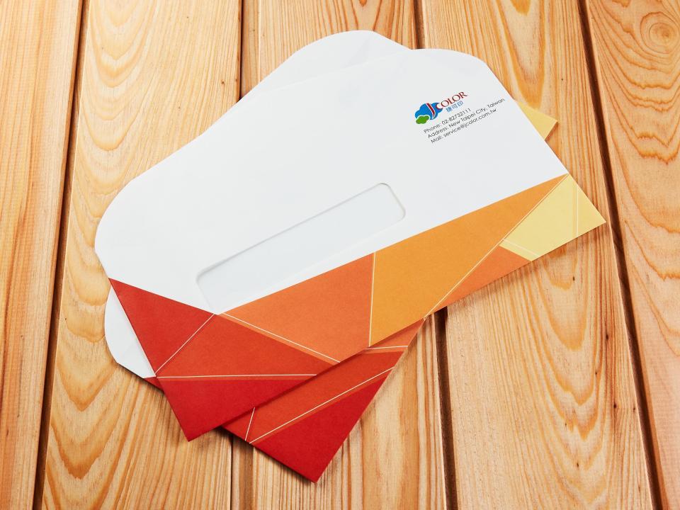 西式12K開窗信封製作,便宜優質的信封印刷服務-捷可印
