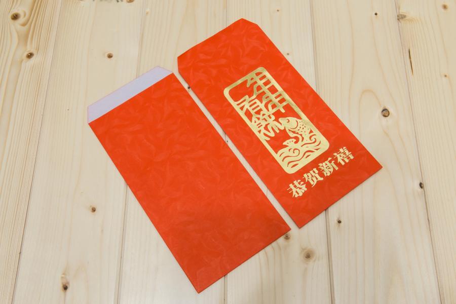 楓葉紋燙金紅包袋