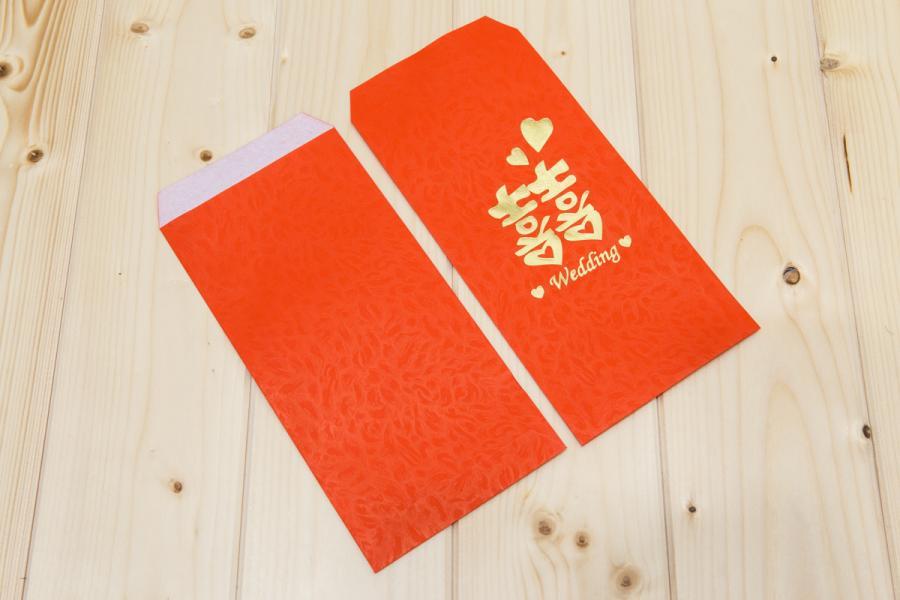 鳳花紋燙金紅包袋