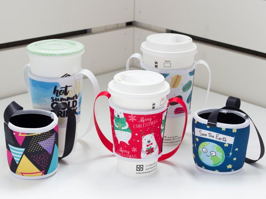 寬版潛水布飲料杯提袋製作,便宜優質的飲料杯提袋印刷服務-捷可印