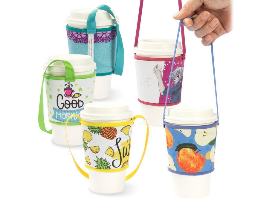 寬版潛水布飲料杯提袋(拷克)