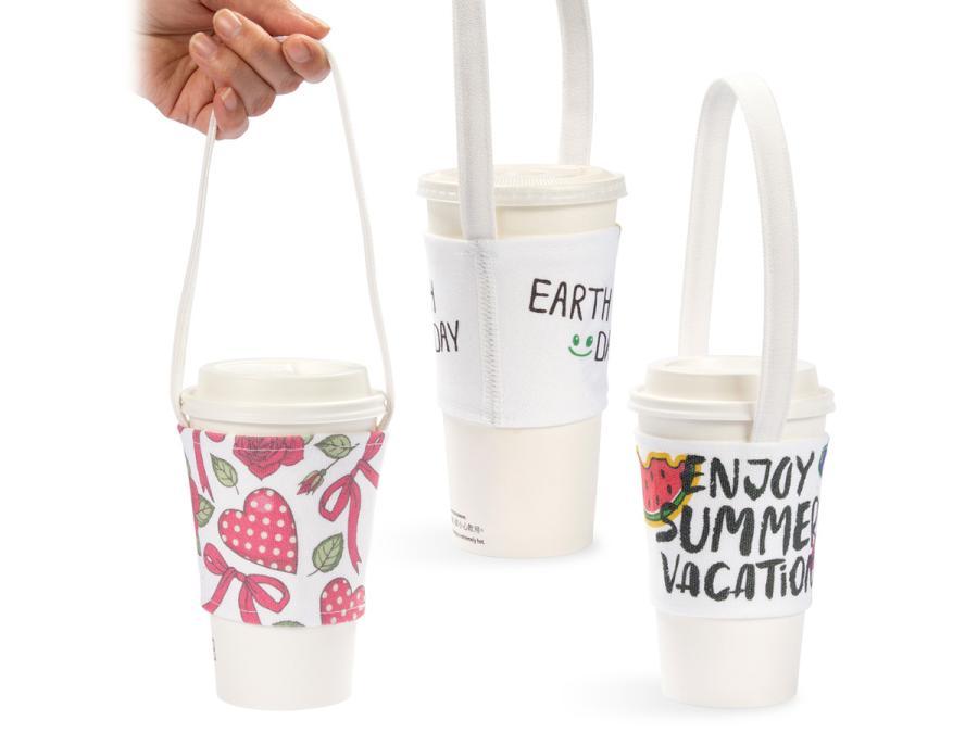 寬版帆布飲料杯提袋製作,便宜優質的飲料杯提袋印刷服務-捷可印