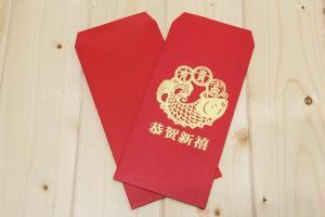 公版燙金紅包袋(滿天星)
