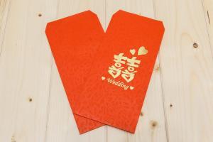 公版燙金紅包袋(鳳花紋)