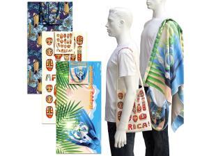 肩背袋海灘毛巾